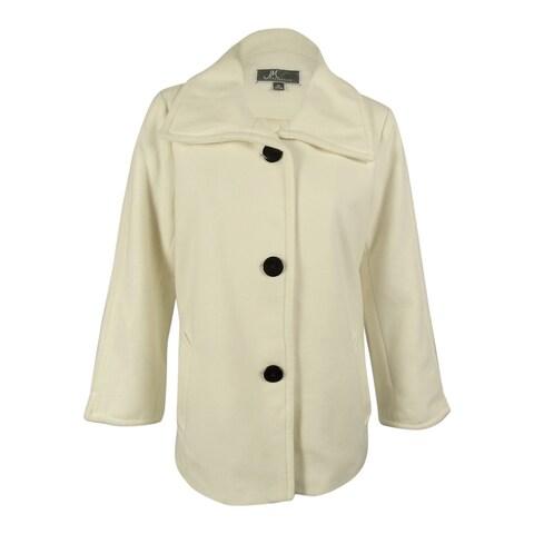 JM Collection Women's Wing-Collar Coat - XL