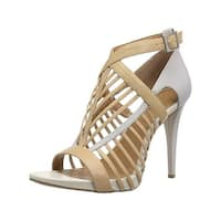 Calvin Klein Womens Naida Open-Toe Heels Caged Ankle