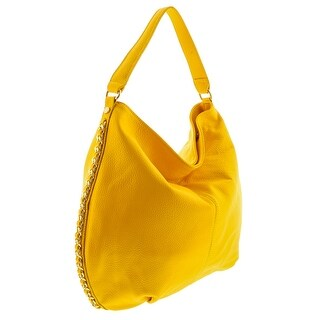 HS2015 VOLETA Yellow Leather Hobo Shoulder Bag