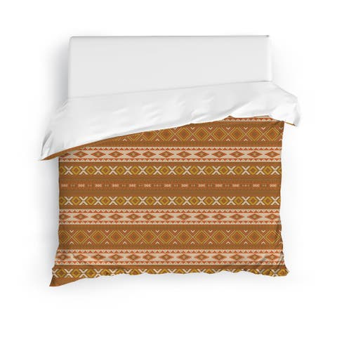 SEDONA BROWN Duvet Cover by Kavka Designs