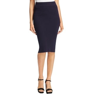 DKNY Womens Pencil Skirt Ribbed Knit Form Fitting