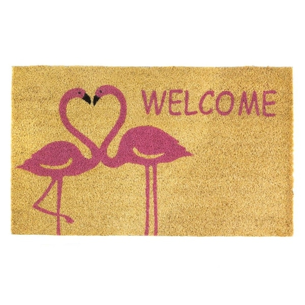 New Arriving Flamingo Love Welcome Mat
