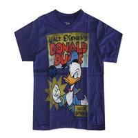 Disney Little Boys Purple Donald Duck Lettering Graphic Print T-Shirt