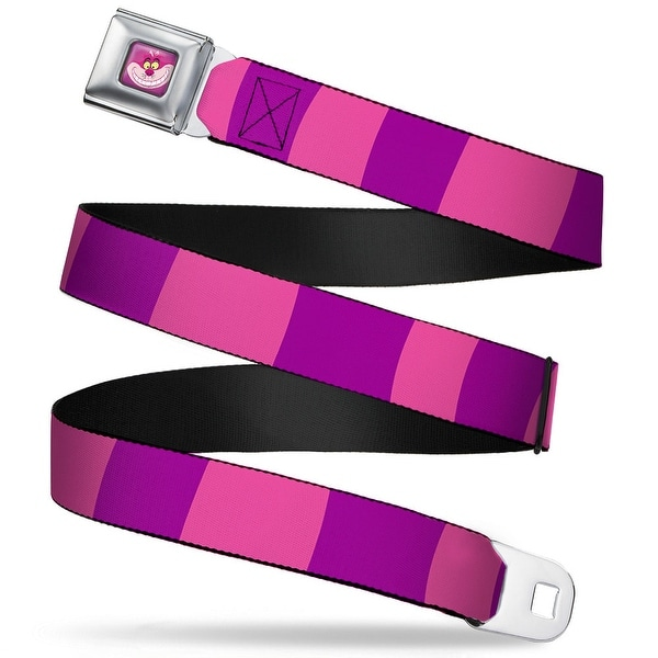 Cheshire Cat Face Full Color Pink Cheshire Cat Stripe Pink Purple Webbing Seatbelt Belt