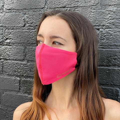 Copper Ion Infused Sports Face Mask for Enhanced Breathability - Washable and Reusable - Pink