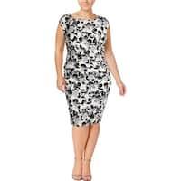 Lauren Ralph Lauren Womens Plus Wear to Work Dress Cap Sleeves Knee-Length