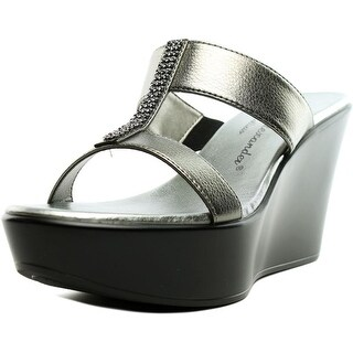 Athena Alexander Pinky Women  Open Toe Synthetic Gray Wedge Sandal