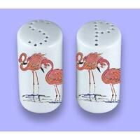 Carolines Treasures 8077SP Flamingo Ceramic Salt Pepper Shakers
