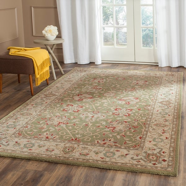 Safavieh Handmade Antiquity Mazie Traditional Oriental Wool Rug. Opens flyout.