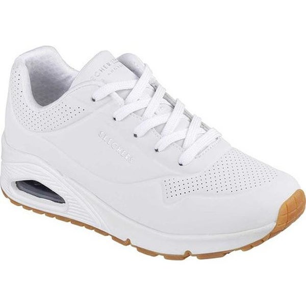 69d89f378640 Shop Skechers Women s Uno Stand on Air Sneaker White - Free Shipping ...