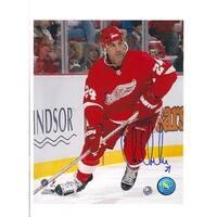 Autographed Chris Chelios Detroit Red Wings 8x10 Photo