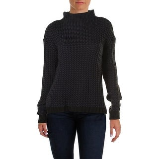 Sanctuary Womens Ribbed Knit Marled Pullover Sweater
