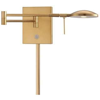 "Kovacs P4338-248 1 Light 6.25"" Height ADA Compliant LED Plug In Wall Sconce in Honey Gold with Dome Shade from the George's"