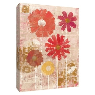 """PTM Images 9-154692  PTM Canvas Collection 10"""" x 8"""" - """"Happy"""" Giclee Flowers Art Print on Canvas"""