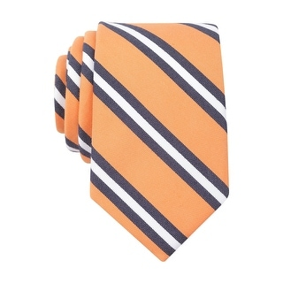Bar III Carnaby Collection Hillgate Stripe Skinny Necktie Orange Tie - One Size Fits most