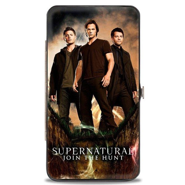 Dean, Sam & Castiel Standing Pose Supernatural Join The Hunt Hinged Wallet - One Size Fits most