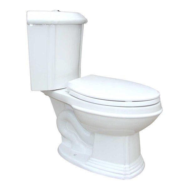 Renovator's Supply White Porcelain Elongated Dual Flush Corner Toilet