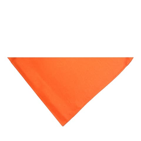 Pack of 8 Triangle Bandanas - Solid Colors and Polyester - 30 in by 20 in by 20 in - One Size Fits Most