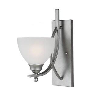 Sea Gull Lighting 4131401-57 Vitelli Glass Wall Sconce Lighting 1 Light Pewter