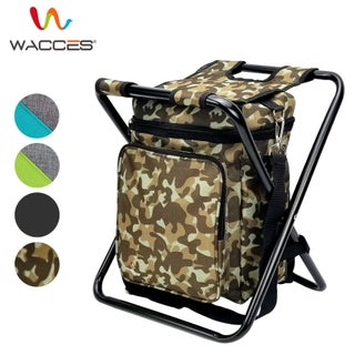 Wacces Multi-Purpose Portable 3 in 1 Stool/Backpack/Cooler Beach Chair (Option: Camo - without backrest)