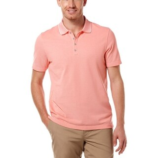Perry Ellis Mens Big and Tall Polo Shirt XXXX-Large Cotton Blend Salmon Color