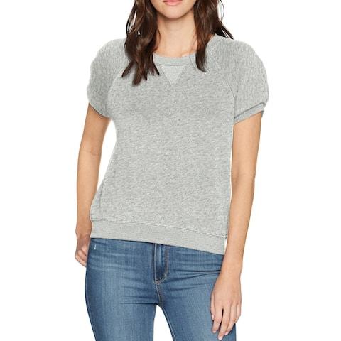 Joie Gray Womens Size Small S Crewneck Puff Sleeve Sweatshirt