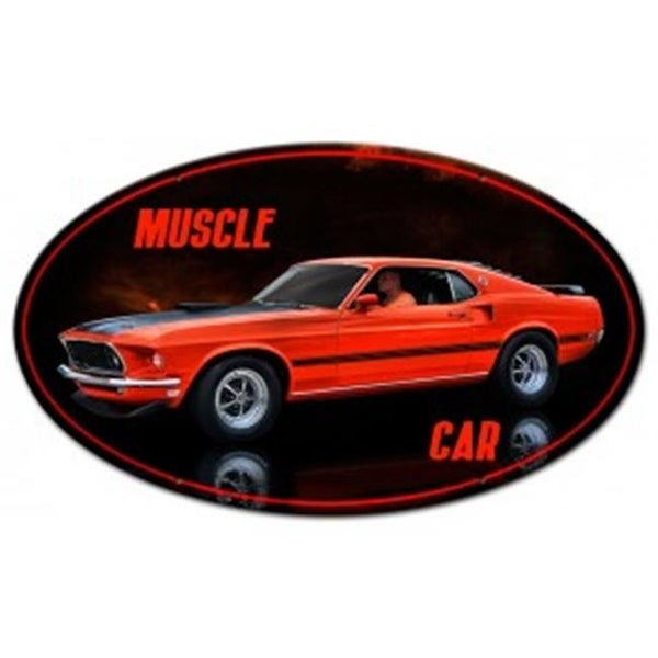 Shop Rat Rod Studios Rrs008 14 In Muscle Car Oval Metal Sign Free