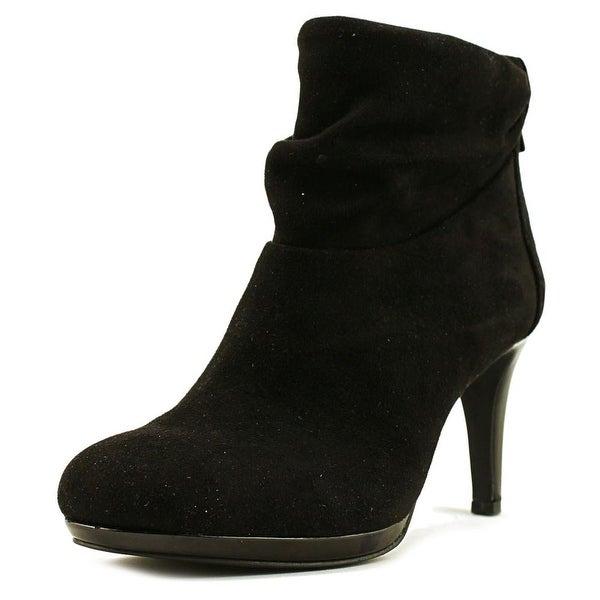 Bandolino Pieretta Women Round Toe Canvas Black Ankle Boot