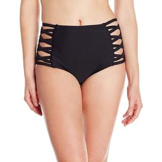 Link to Coastal Blue Women's Swimwear High Waist Bikini Bottom, Ebony, M (8-10) - 8 Similar Items in Women's Surf & Swim Clothing