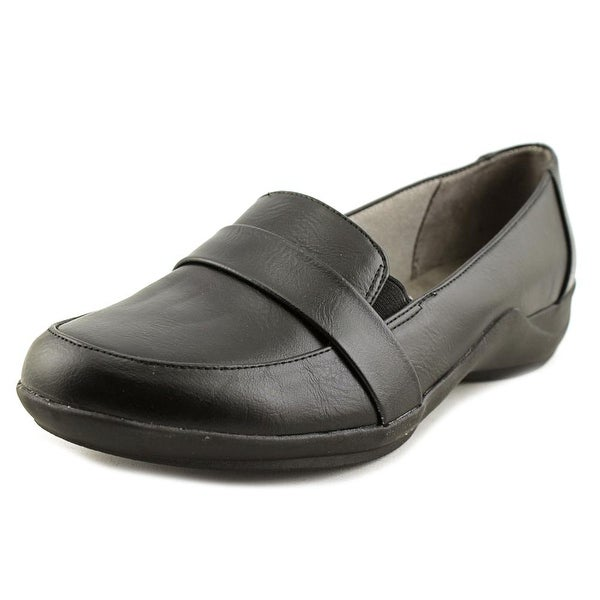 Life Stride Makos Women Round Toe Leather Black Loafer