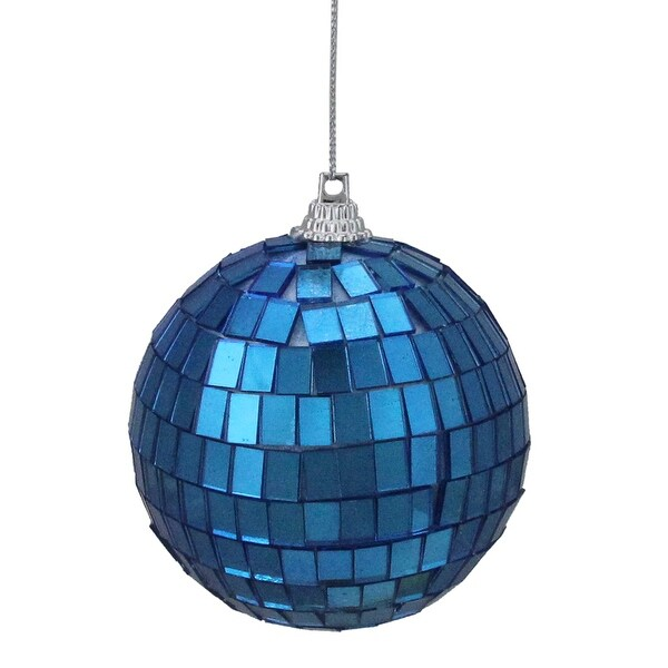 """Shop 6ct Lavish Blue Mirrored Glass Disco Ball Christmas Ornaments 2.75"""" (70mm) - N/A - Free Shipping On Orders Over $45 - Overstock - 16546242"""