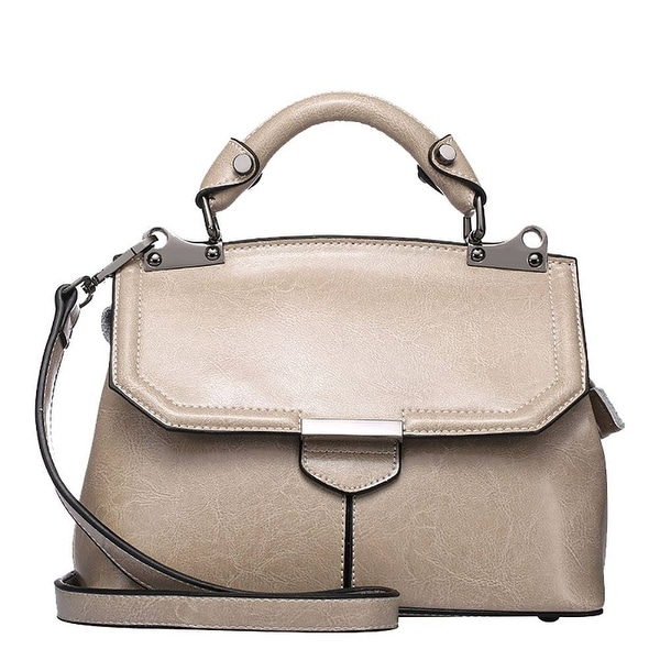 QZUnique Womens Genuine Leather Top Handle Type Cross Body Shoulder Bag