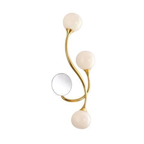 Corbett Lighting Signature 3-Light Gold Leaf Wall Sconce