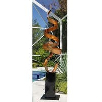 Statements2000 Large Metal Sculpture Modern Indoor Outdoor Garden Art Decor by Jon Allen - Copper Perfect Moment