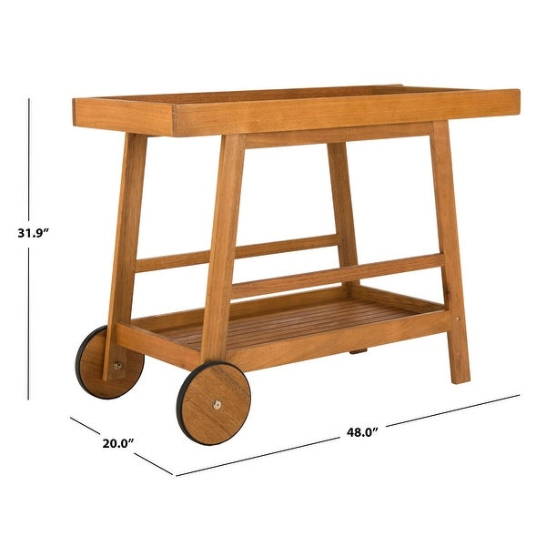 "Safavieh Outdoor Living Remzo Bar Cart - 48""x20""x31.9"""