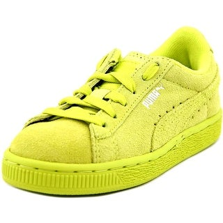 Puma Suede Kids Youth Round Toe Suede Yellow Sneakers