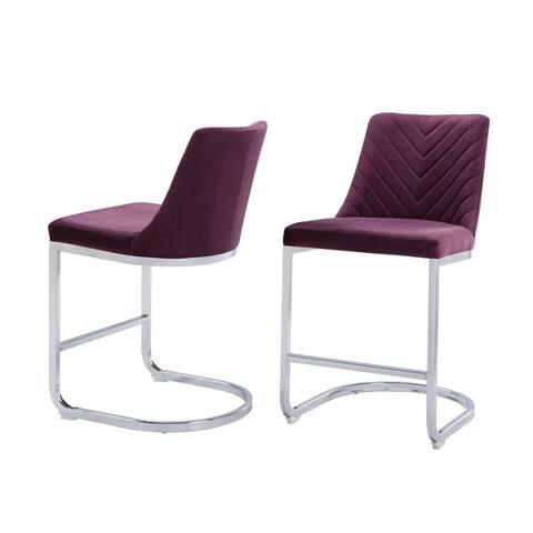 Balisa Velvet Counter Chair