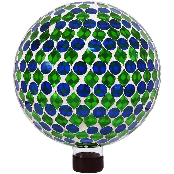 Sunnydaze Mosaic Gazing Globe Ball, 10-Inch