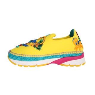 Dolce & Gabbana Yellow Neoprene Crystal Espadrilles Shoes - eu39-us8-5