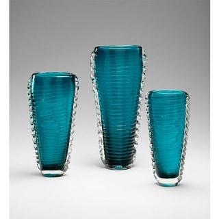 "Cyan Design 04782 12.5"" Medium Dollie Vase - cyan blue"