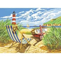 """Seashore - Paint By Number Kit 12""""X16"""""""