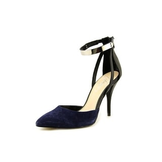 Fergie Jazz Women Pointed Toe Leather Blue Heels