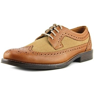 Dockers Hathaway Men Wingtip Toe Leather Tan Oxford