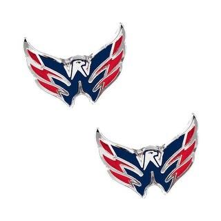 Washington Caps Capitals Post Stud Logo Earring Set NHL Charm