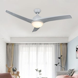 "Link to CO-Z 52"" 3-Blade Ceiling Fan with Reversible Motor and Remote Control- Brushed Nickel or Finish White Similar Items in Ceiling Fans"