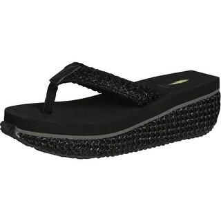 Volatile Girls Glide Wedge Flip Flop Sandals