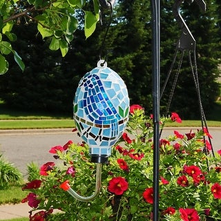 Sunnydaze Mosaic Bluebird Outdoor Hummingbird Feeder - 6-Inch