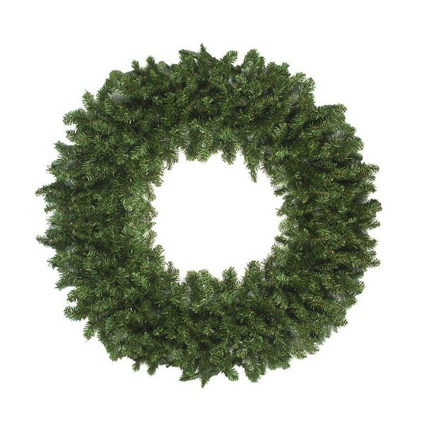 10' Commercial Canadian Pine Artificial Christmas Wreath - Unlit - green