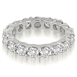 5.60 cttw. 14K White Gold Round Diamond Eternity Ring