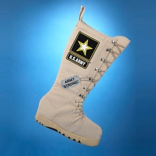 """Pack of 6 U.S. Army Combat Boot """"Army Strong"""" Christmas Stockings 19"""""""